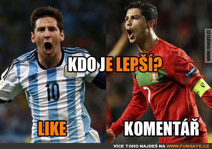Kdo je lepší fotbalista?