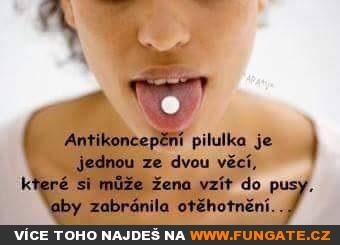 Antikoncepční pilulka je jednou ze dvou věcí...