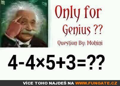 Pouze pro génia
