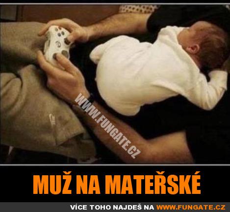 Muž na mateřské