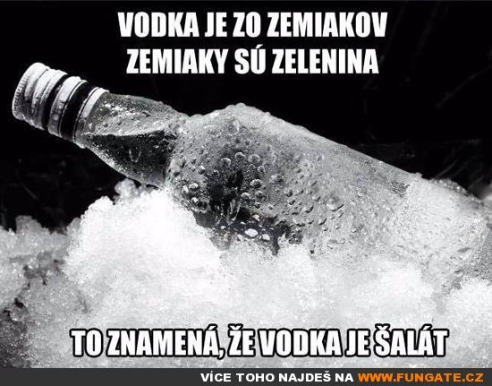 Vodka je z brambor...