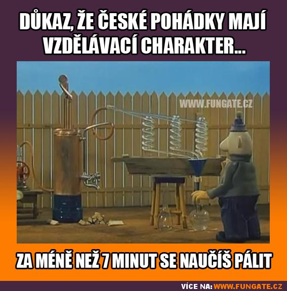 Důkaz, že české pohádky mají vzdělávací charakter...