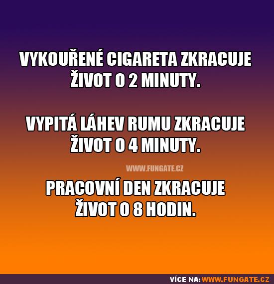 Vykouřená cigareta zkracuje život o 2 minuty