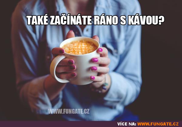 Také začínáte ráno s kávou?