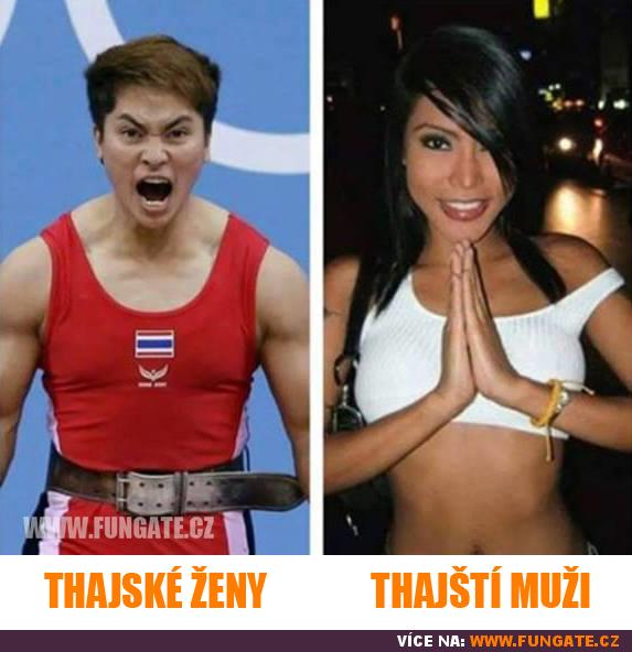 Thajské ženy vs. thajští muži
