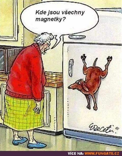 Kde jsou všechny magnetky?