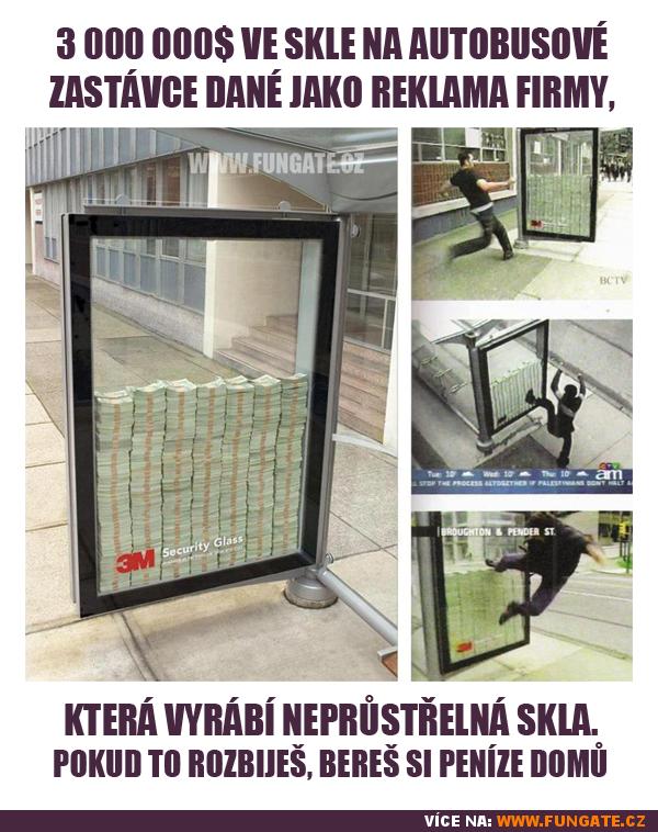 3 000 000$ ve skle na autobusové zastávce dané jako...