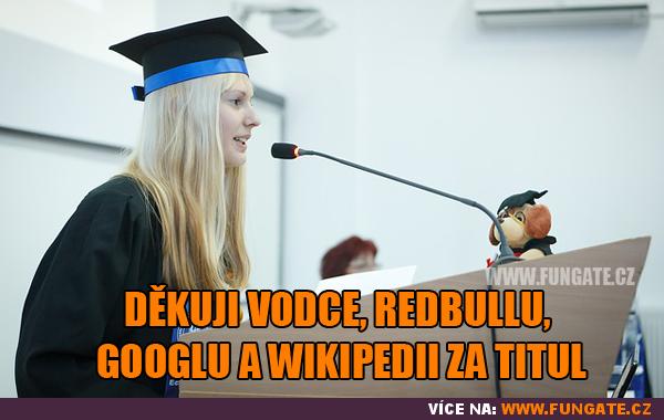 Děkuji vodce, RedBullu, Googlu a Wikipedii za...