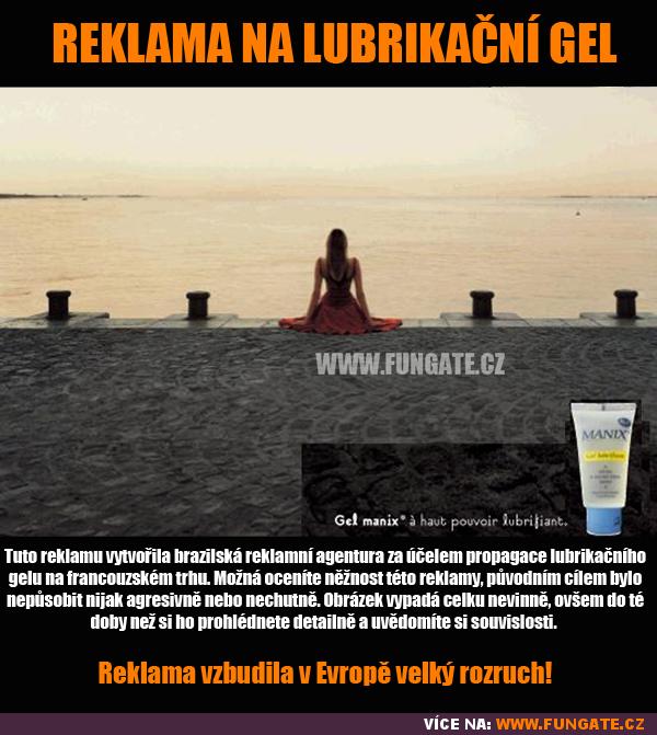 Reklama na lubrikační gel
