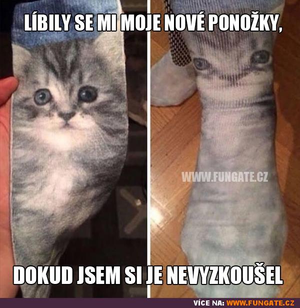 Líbily se mi moje nové ponožky,...