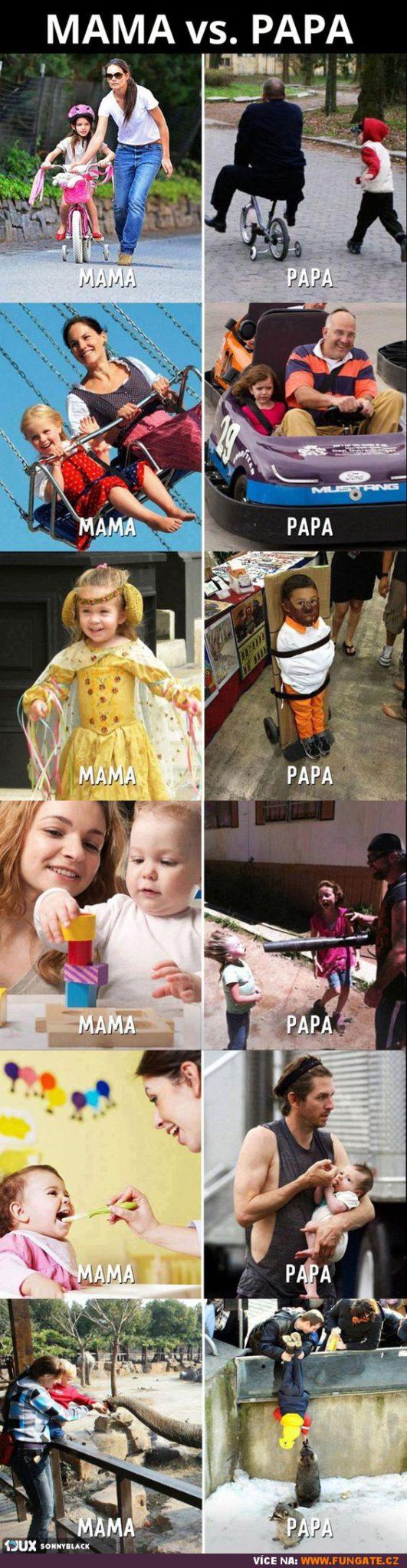 Máma vs. táta
